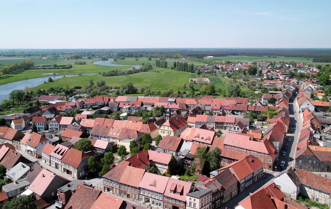 Lenzen (Elbe) Luftbild