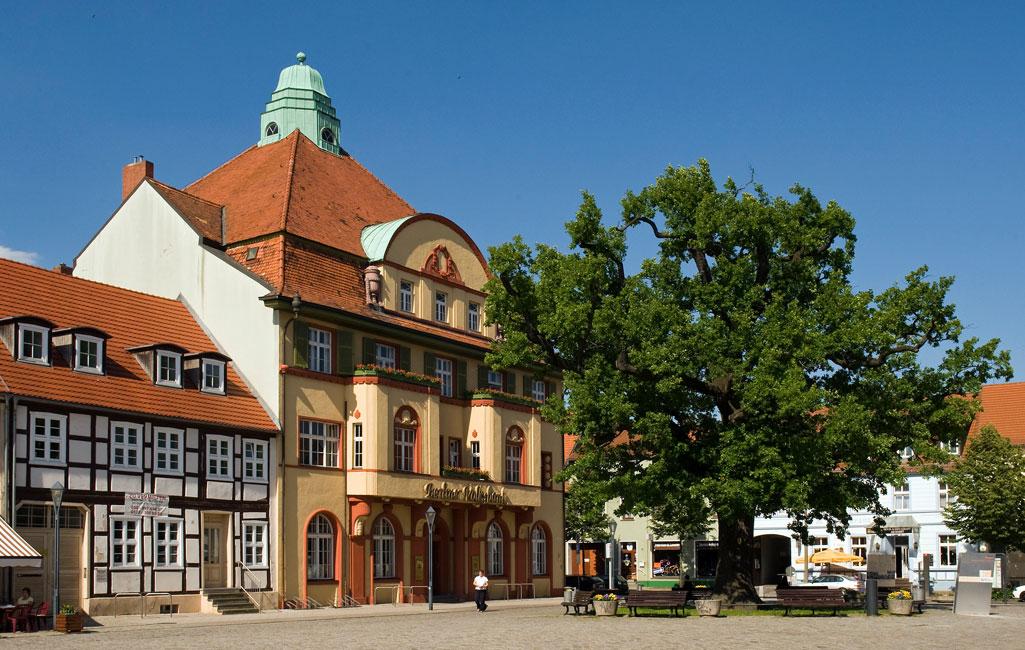 Jugendstilgebäude am Marktplatz