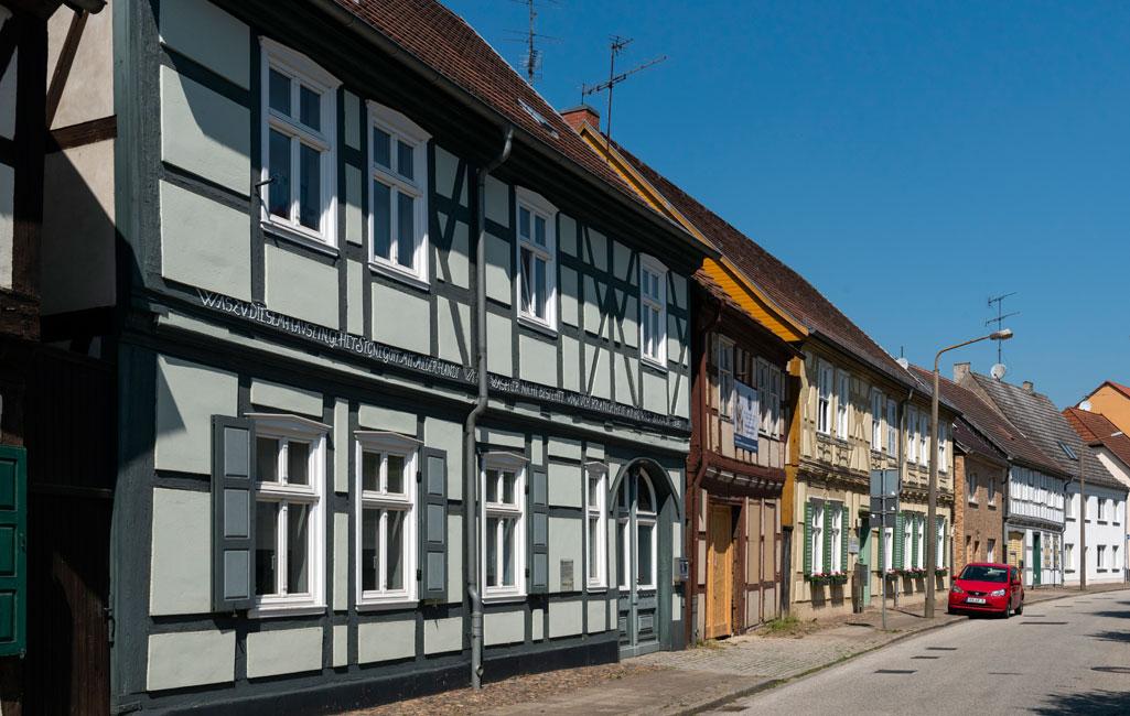 Fachwerkhäuser in der Kyritzer Straße