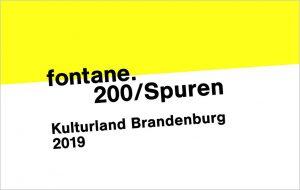 Jahreslogo Fontane.200 Kulturland Brandenburg 2019